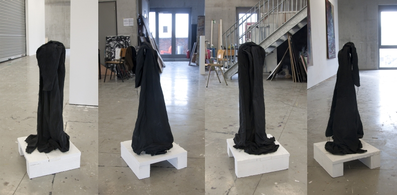 black-soft-sculpture, sculpture